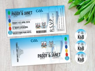 GAA Match Ticket Invitations