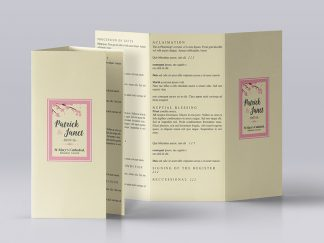 Tri Fold Wedding Mass Booklet