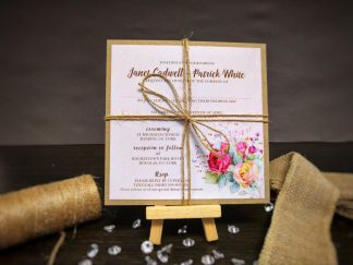 Rustic Floral Wedding Invite