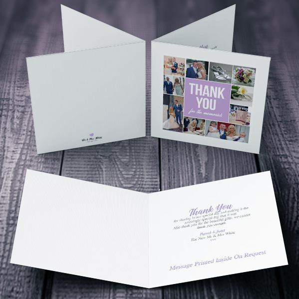 Square Folding Thank You Card