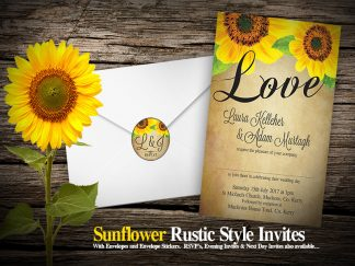 Sunflower Themed Wedding Invite