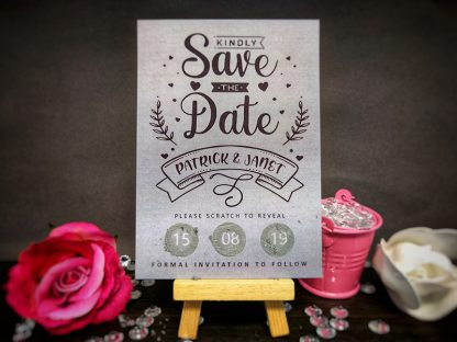 Scratch Card Scratched Save The Date